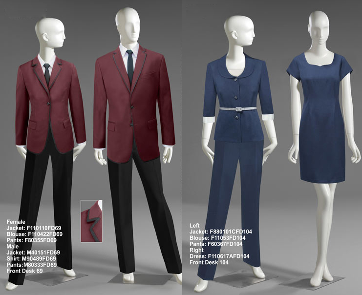 Hotel front desk uniform designs hostgarcia for Hotel design jersey