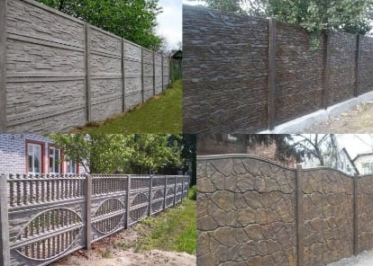 Mold for Decorative fence, tile, sidewalk tiles, curb and gutter